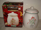 Corelle Coordinate CALLAWAY HOLIDAY Cookie Jar With Lid~ Mint In Box