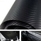 3D Twill Weave Glossy Black Carbon Fiber Vinyl Wrapping Sheet Film 24x48 Size