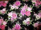 1 Yard Beautiful Bloossoms Peonies Pink Northcott cotton Fabric 2691 99