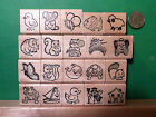 Stampettes - Fun Rubber Stamps of Animals and Objects, wood mounted