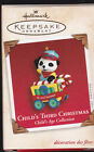 2003 Dated Hallmark Child's Third Christmas Commemorative Ornament Dated NIB NEW