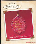 2003 Dated Hallmark First Christmas Together Commemorative Ornament NIB NEW