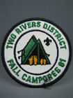 Two Rivers District FALL CAMPOREE 1981 Boy Scout Patch