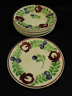 GROUP/6 ANTIQUE STAFFORDSHIRE IRONSTONE STICK SPATTER SPATTERWARE PLATES