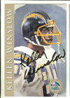 KELLEN WINSLOW 1998 HALL OF FAME SIGNATURE SERIES AUTOGRAPH SAN DIEGO CHARGERS