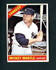 1966 Topps # 50 Mickey Mantle EX cond Yankees