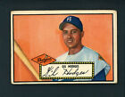 1952 Topps # 36 BLACK BACK Gil Hodges VG EX cond Brooklyn Dodgers