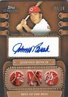 2010 Topps JOHNNY BENCH Sterling Legendary Leather Triple Autograph Patch 10