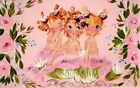 Baby Mermaid Sisters 10x6 Cotton Quilt Block Top Square FrEE ShiPPinG WoRld WiDE