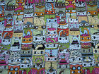 1 Yard Quilt Cotton Fabric Northcott Jive Cats Packed Cats Allover Sassy Pink