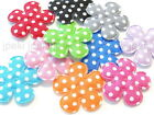 100 Padded Felt Cotton Swiss Dot Flower Appliques 10 Colors 1 inch Craft A243