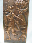 Copper Crafts Vintage Island Scene Artsy Wall Hanging Hand Hammered
