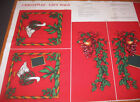 Rose & Hubble Christmas Fabric Gift Bag Geese Make Own Holly Bells Sew FREE SHIP