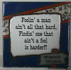 6X6 Art Tile Western Wisdom Theme Foolin a Man Made in Italy Ceramic Tile