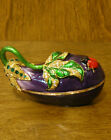 Jeweled Kubla Crafts Trinket Box #KC3464 EGGPLANT, NEW From our Retail Store MIB