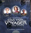 2012 RITTENHOUSE STAR TREK VOYAGER THE QUOTABLE SEALED BOX 3 AUTOGRAPHS