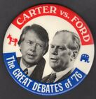 Carter vs. Ford The Great Debates of '76 Button