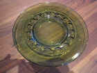 2 INDIANA GLASS C 1975 OLIVE GREEN CROWN LUNCHEON SALAD PLATE FREE SHIPPING