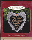 1997 Hallmark Our First Christmas Together Commemorative Ornament Dated NIB NEW