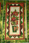 Stonehenge Holiday Metallic Poinsettia by Northcott Christmas Fabric Panel 23