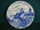 Villeroy & Boch Vintage Blue and White 7536  Hand Painted Ships 10 3/8