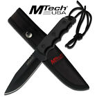 Mtech Full Tang Blade Black Tactical Hunting Survival Knife & Sheath #20-35BK
