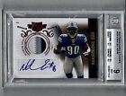 NDAMUKONG SUH RC 3 COL AUTO 2010 PLATES & PATCHES 199 BGS 9 MINT 9 AUTO