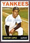 1964 Topps #325 Hector Lopez New York Yankees Signed AUTO