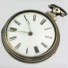 English Verge Pocket Watch in Silver Pair Case  in excellent condition!
