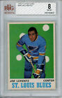 1970-71 O Pee Chee #209 Jim Lorentz BVG 8 NM-MT St Louis Blues