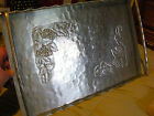 Vintage EVERLAST Hand Forged Aluminum Handled Tray w/ Embossed Grape Vine Design