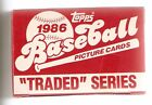 1986 Topps Traded Baseball Trading Card Set in Original Box
