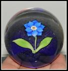 Superb Signed Orient & Flume Lampwork Studio Glass Flower Paperweight
