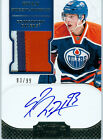 2011-12 11-12 DOMINION # 188 RYAN NUGENT-HOPKINS RC AUTO 3 COLOR, JERSEY # 93 99