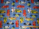 Police Car Ambulance Fire Truck Fleece Fabric by the Yard BTY