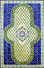 DECORATIVE MOROCCAN TILES: HAND PAINTED MOSAIC WALL MURAL BATH POOL  60in x 36in