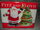 NEW IN BOX FITZ & FLOYD SANTA & CHRISTMAS TREE Salt and Pepper SHAKERS