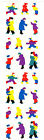 Mrs Grossmans Stickers Holiday People Tiny People Winter Gear 4 Strips