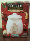 CORELLE CALLAWAY IVY CHRISTMAS HOLIDAY COOKIE JAR AIRTIGHT LID W/ BOX