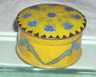 Vintage Tole Painted Signed Wooden Trinket / Jewelry / Presentation Box