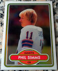 PHIL SIMMS 1980 Topps Chrome REFRACTOR SP Rookie Card RC 11 99 Giants Jersey #