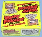TOPPS - ANS 2, 3, 4, 5, 6 - WACKY PACKAGES PLUS 5 ALBUMS - 5 SEALED BOX LOT