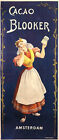 AMSTERDAM CACAO BLOOKER TRADITIONAL DUCTH WOMAN VINTAGE POSTER REPRO SMALL