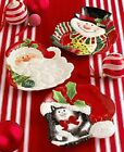 Fitz & Floyd Merry Christmas Kitty Claus Canape Plate NIB