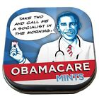 President ObamaCare Mints Breath Mints Box of 12 Illustrated Tins NEW SEALED