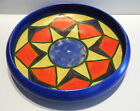 Vintage Art Deco Pottery Fruit Bowl 10 in. Hand Painted Colorful Early Mark
