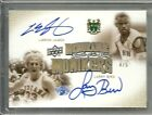 2010 UD GREATS OF THE GAME BASKETBALL MONIKERS LeBRON JAMES LARRY BIRD AUTO 4 5