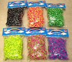 3600  6x600 TIE DYE Rainbow Color loom refill rubber bands With S Clips new
