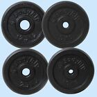 Cast Iron 1 Hole Weight Plate Plates Discs Weights Training Exercise Gym Muscle