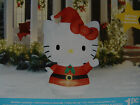 NEW  LG 5.5 FT AIRBLOWN HHELLO KITTY CHRISTMAS INFLATABLE YARD DECOR GEMMY